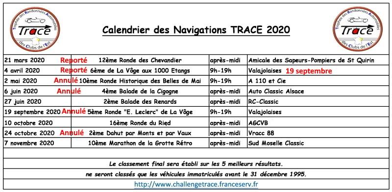 Calendrier 2020 report 1
