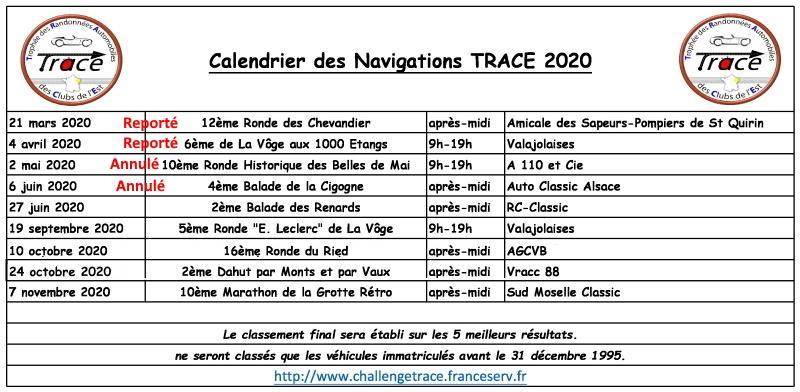 Calendrier 2020 report