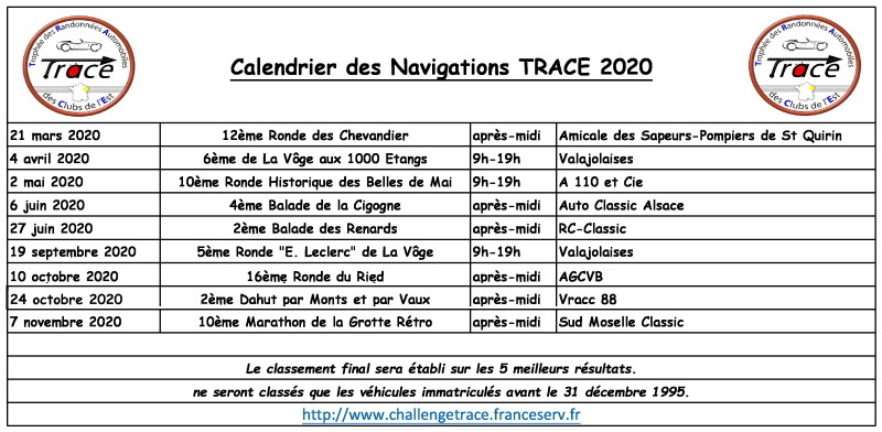 Calendrier 2024