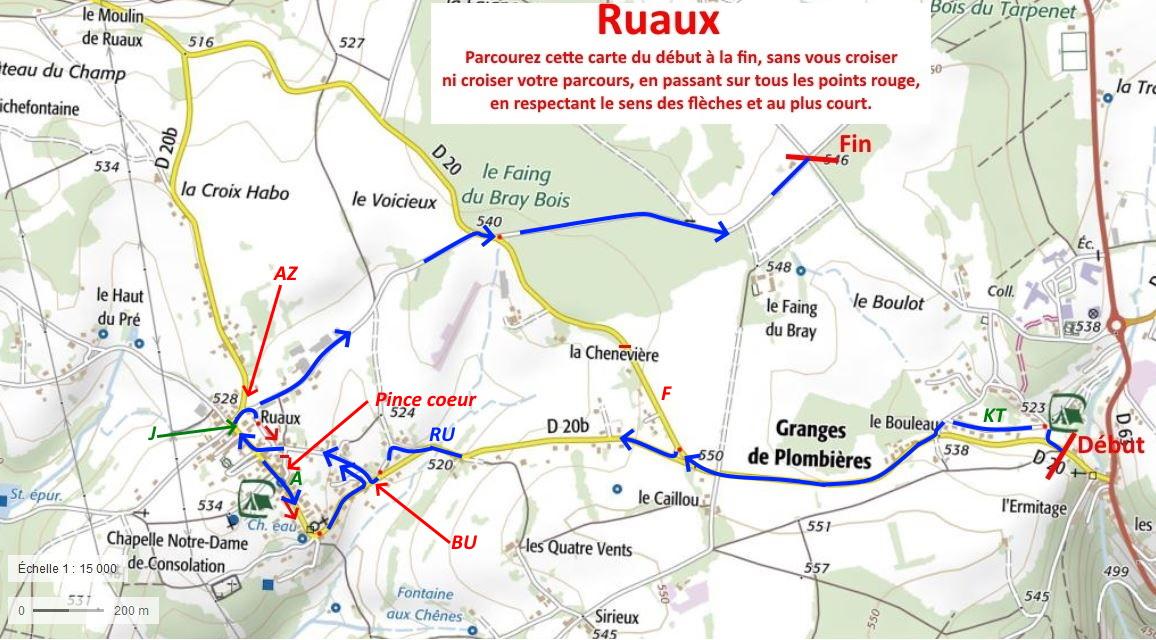 Carte ruaux tourisme