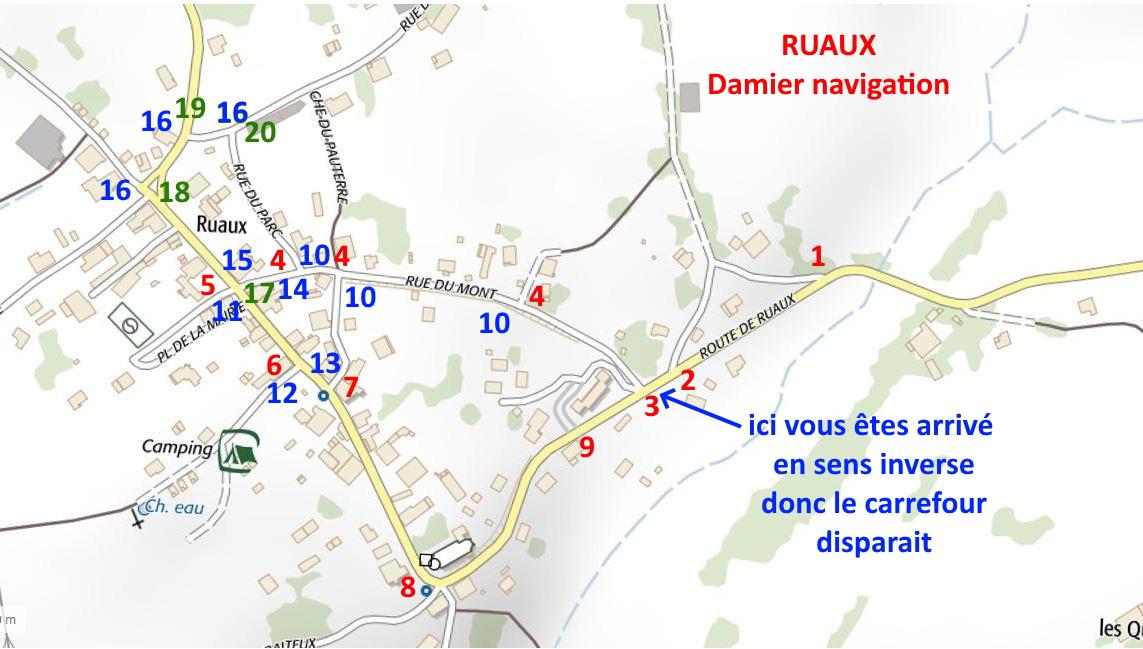 Corrige damier ruax navigation