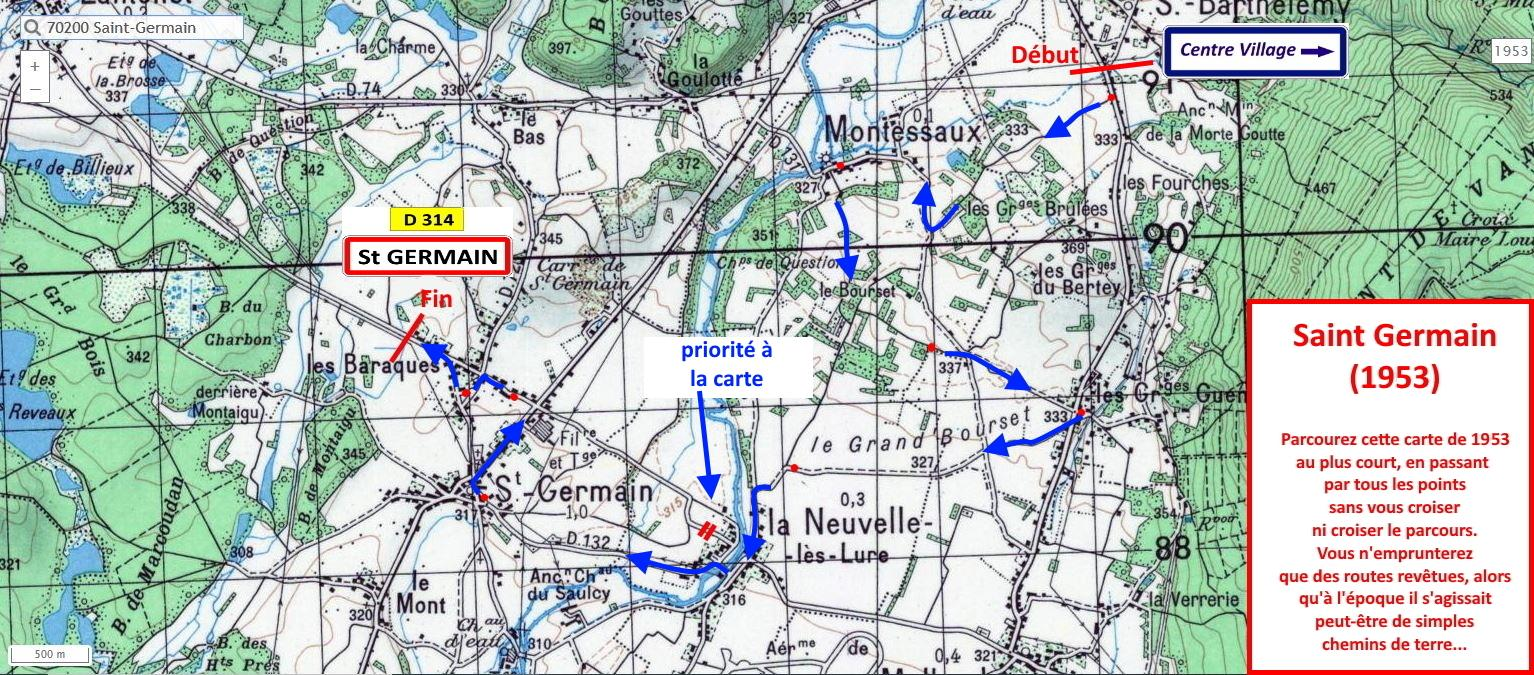 St germain 1953 navigation correction