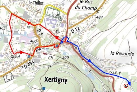 Xertigny navigation